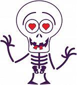 foto of missing teeth  - Funny skeleton with big head - JPG