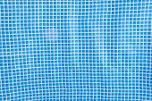 stock photo of fillies  - blue mosaic tiles texture with white filli - JPG