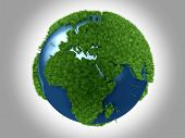Green Planet - Africa and Europe poster
