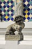 Постер, плакат: Каменный лев Китай сидеть Антик