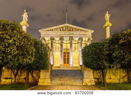 The Main Building Of The Academy Of Athens, Greece