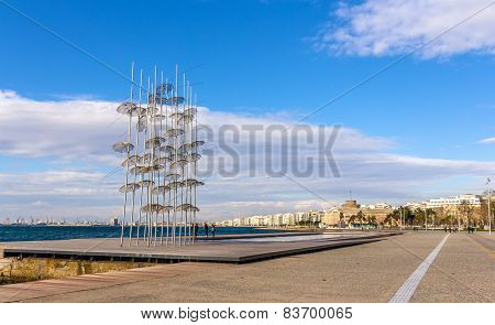 View Of Seafront In Thessaloniki - Greece