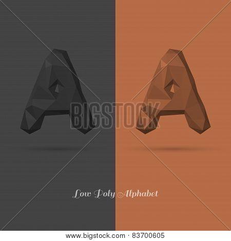 Polygonal Flat Alphabet Letter A