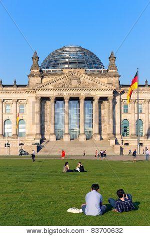 The Reichstag Building In Berlin: German Parliament