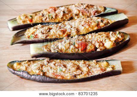 Stuffed Eggplant Raw