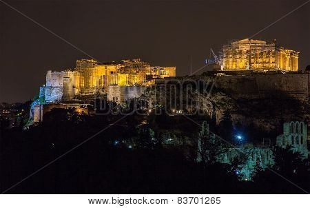 View Of The Acropolis Of Athens - Greece