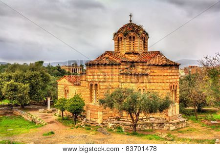 Church Of The Holy Apostles In Athens - Greece