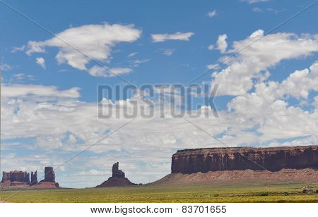 Mesas and bittes of the Monument Valley