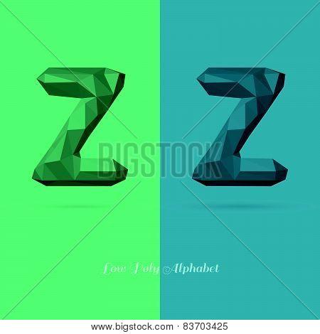 Polygonal Flat Alphabet Letter Z