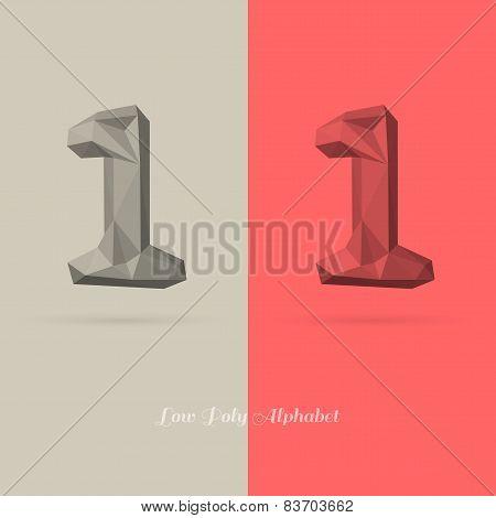 Polygonal Flat Alphabet Number 1