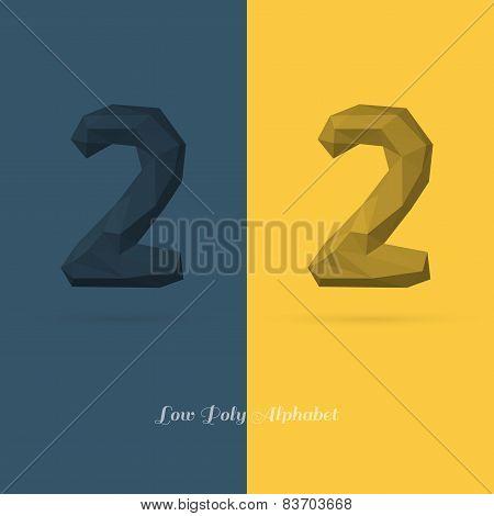 Polygonal Flat Alphabet Number 2