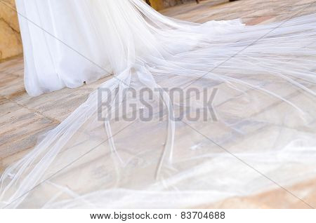 Tail White Wedding Dress