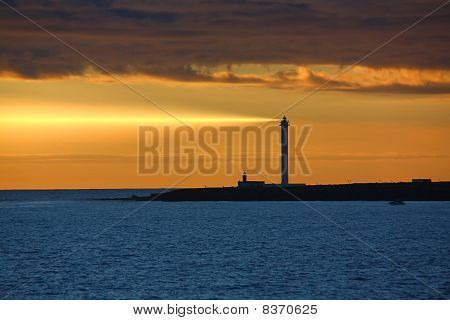 Sundown over Lighthouse
