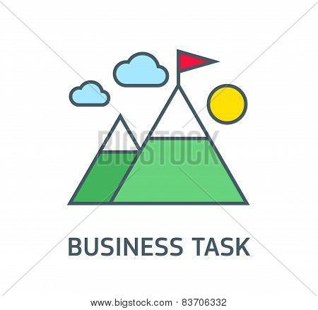 flag on the mountain peak, winning strategy