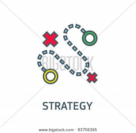 abstract vector sign the dotted line strategy goal  business