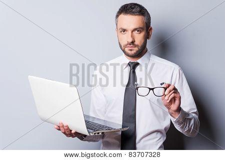 Confident Business Expert.