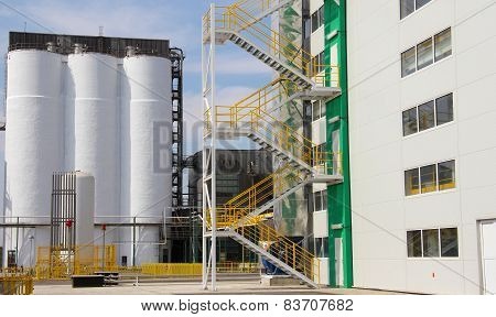 Agricultural Silo, Industrial Building Exterior