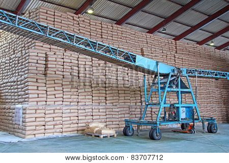 Sugar Bags and Conveyor