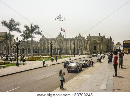 Plaza Mayor Of Lima In Peru