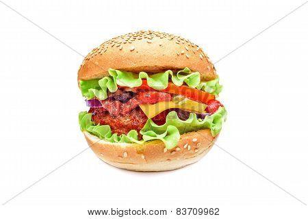 Hamburger isolated