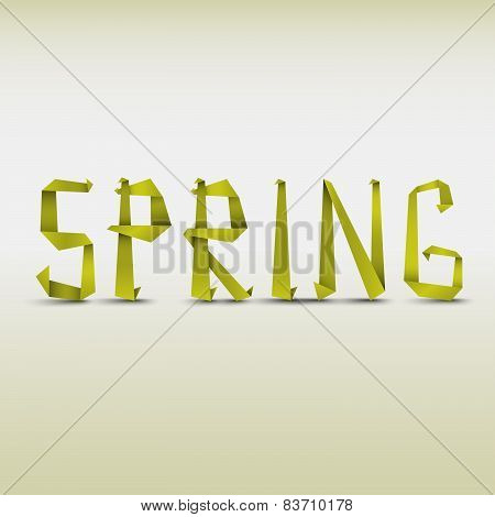 Abstract Spring Background With Folded Letters