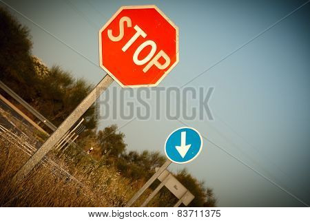 stop sign and obligation