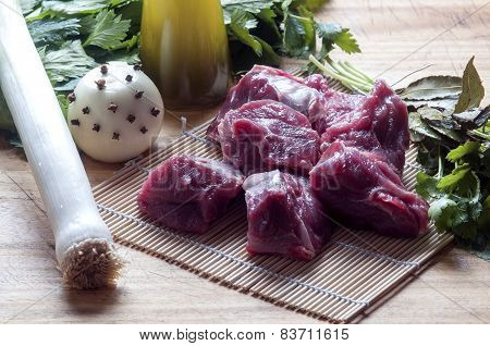 Ingredients For The Preparation Of Meat Broth