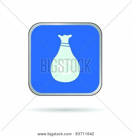 Sack Of Money Blue Vector