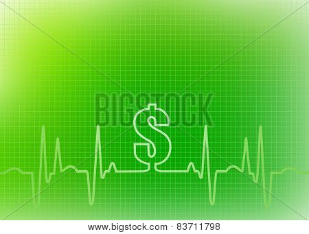 Medical Cost $ Sign Background