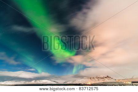 Aurora above Grundarfjörður