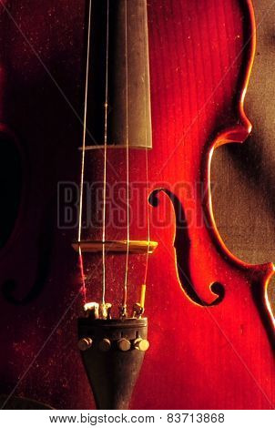Beautiful Old Red Violin