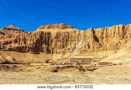 View Of Deir El-bahari, A Complex Of Mortuary Temples In Egypt
