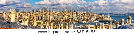 Panorama Of Istanbul From The Sueymaniye Mosque - Turkey