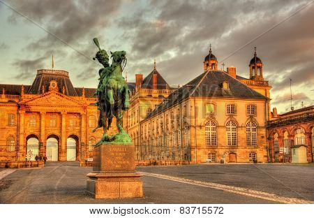 Monument To Lasalle In Front Of The Castle Of Luneville - Lorraine, France