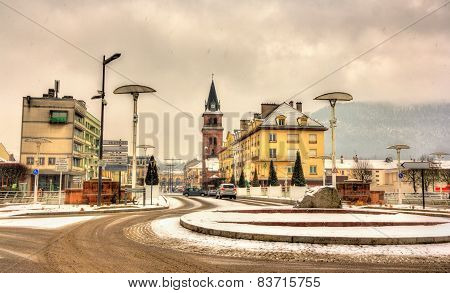 Gambetta Street In Saint-die-des-vosges - Lorrane, France