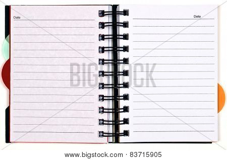 Day Planner With Blank Pages And Colored Tabs