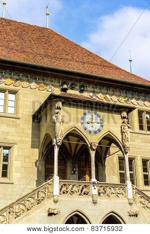 Porch Of Bern Town Hall - Switzerland