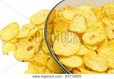 Some Corrugated Potato Chips