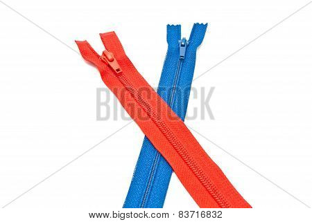 Blue And Red Zipper