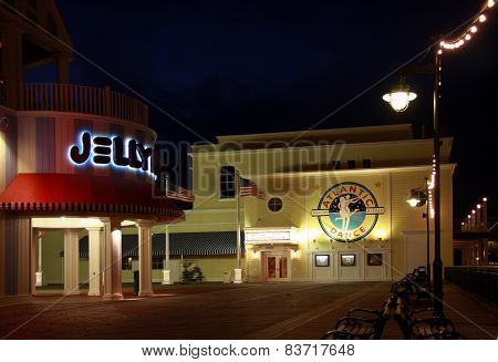 Orlando, Fl, Usa - January 19, 2009: Atlantic Dance Hall Nightclub At Boardwalk Disney  Area On Cres