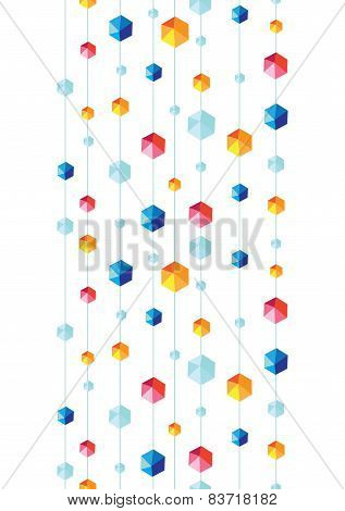 abstract hanging jewels striped seamless pattern background vertical border