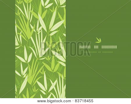 Bamboo branches vertical decor seamless pattern background