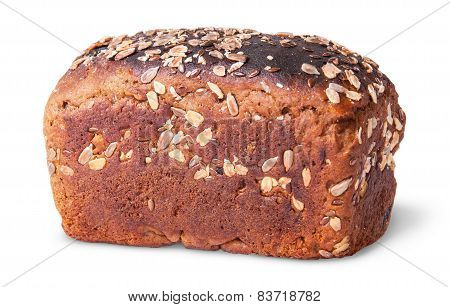 Unleavened Black Bread With Nuts Seeds And Dried Fruit Rotated