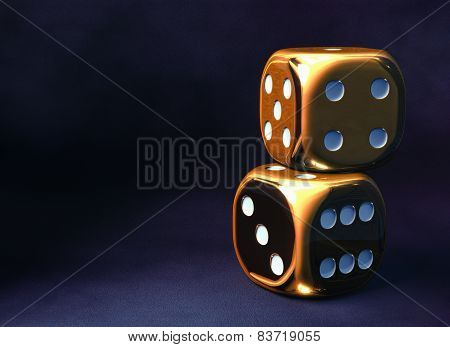 Golden Dice Background