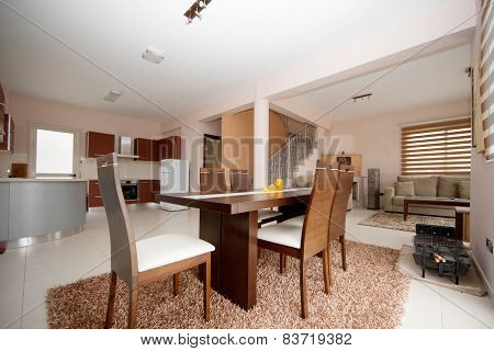diningroom , kitchen and livingroom