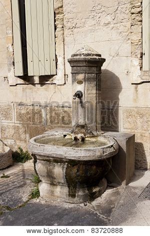 Old Stone Public Fountain