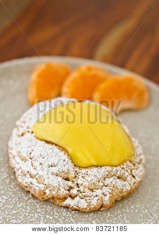 Delicious Lemon Scone With Orange Slices