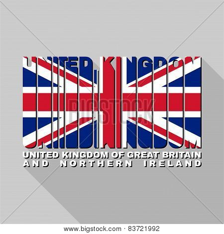United Kingdom Flag Typography, T-shirt Graphics