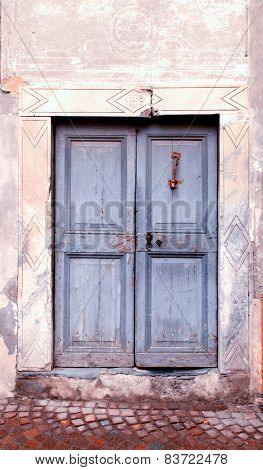 Vintage Damaged Wood Medieval Door