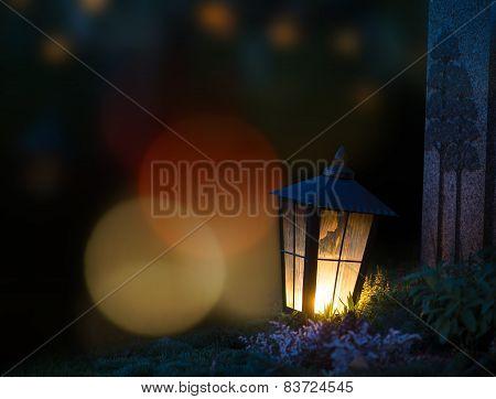 Lantern On Grave